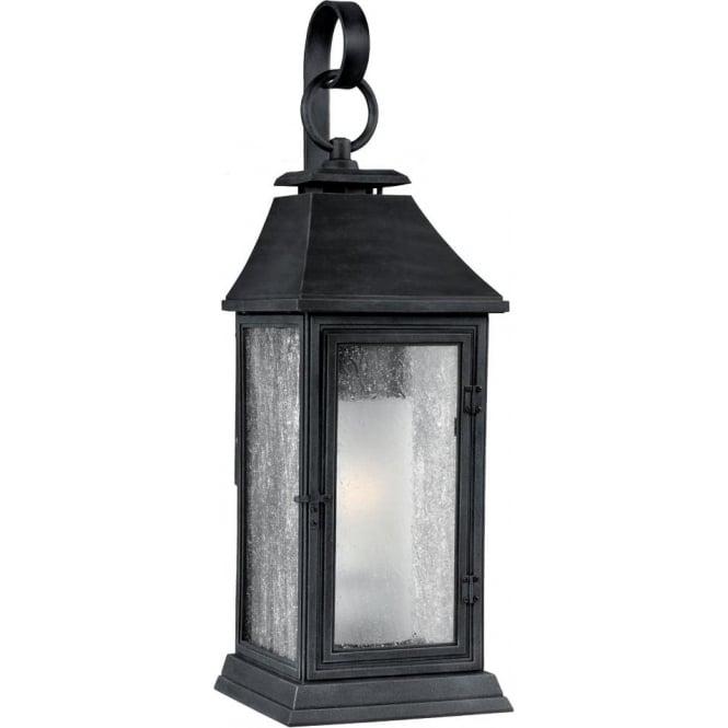 Feiss Shepherd Medium Wall Lantern Dark Weathered Zinc