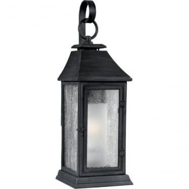 Shepherd Medium Wall Lantern Dark Weathered Zinc