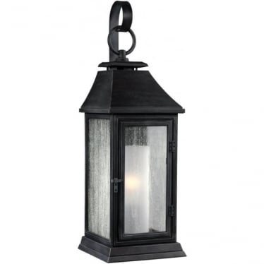 Shepherd Small Wall Lantern Dark Weathered Zinc