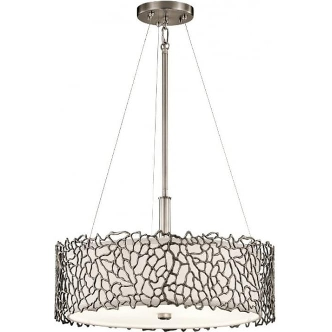 Kichler Silver Coral Duo-Mount Pendant Classic Pewter