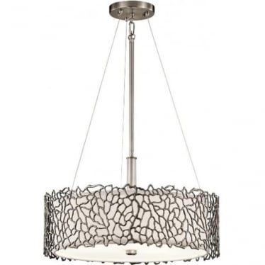 Silver Coral Duo-Mount Pendant Classic Pewter