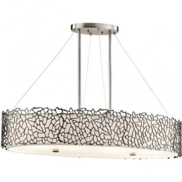 Silver Coral Oval Island Light Classic Pewter