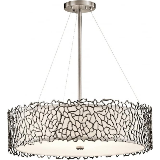 Kichler Silver Coral Pendant Classic Pewter