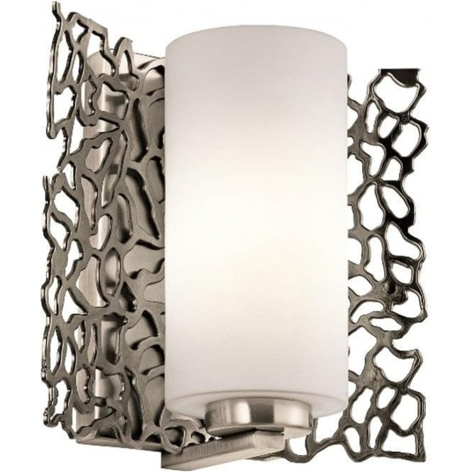 Kichler Silver Coral Wall Light Classic Pewter