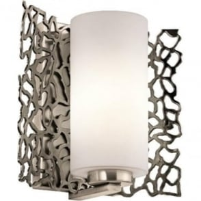 Silver Coral Wall Light Classic Pewter