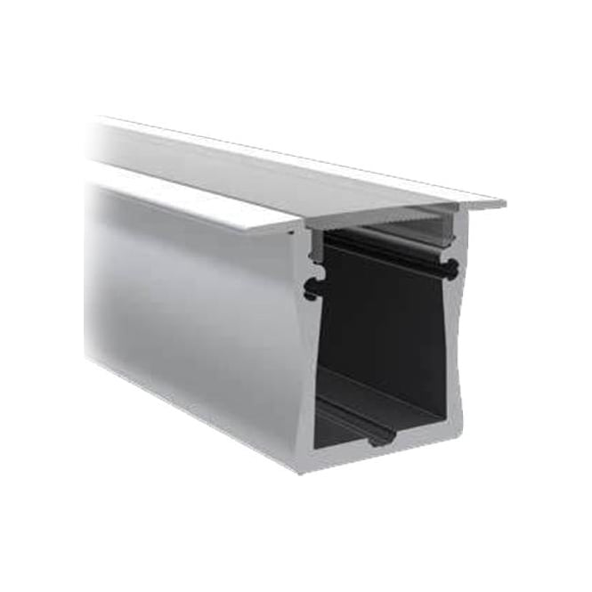 Collingwood Lighting SM28 PROFILE DEEP SURFACE MOUNT ANODISED ALUMINIUM PROFILE & OPAQUE DIFFUSER