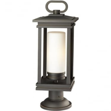 South Hope Large Pedestal Rubbed Bronze