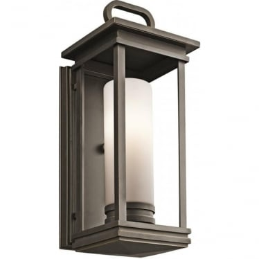 South Hope Medium Wall Lantern  Rubbed Bronze
