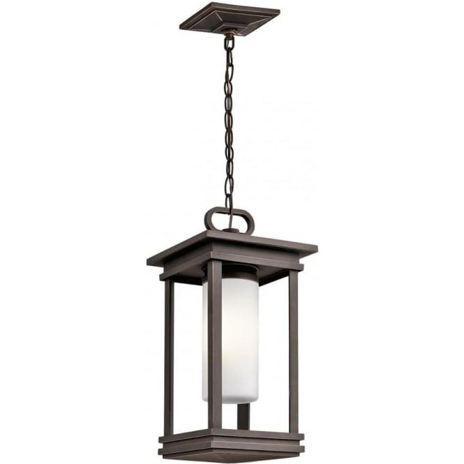 Kichler South Hope Small Chain Lantern Rubbed Bronze