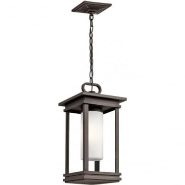 South Hope Small Chain Lantern Rubbed Bronze