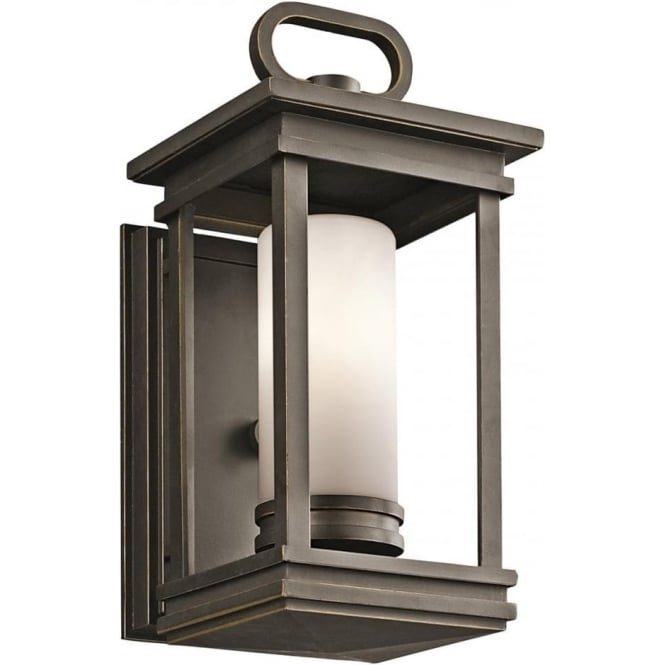 Kichler South Hope Small Wall Lantern Rubbed Bronze