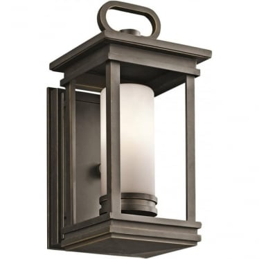 South Hope Small Wall Lantern Rubbed Bronze