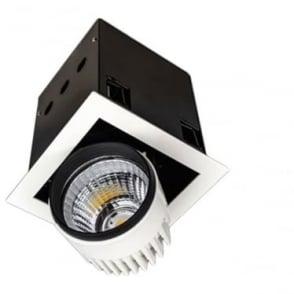 SQSM Medium Recessed 26W Adjustable LED Downlight - Square - Low voltage