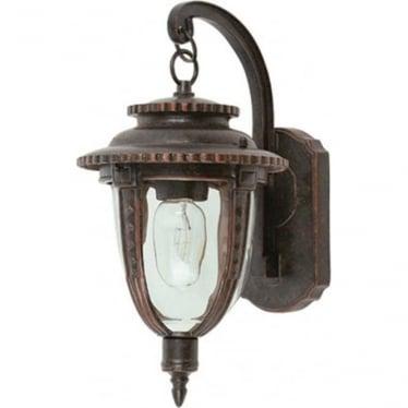 St Louis Wall Lantern Medium - Weathered Bronze