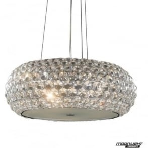 Star Large Pendant Clear Crystal Dimmable