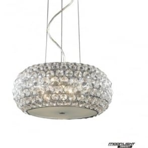 Star Small Pendant Clear Crystal Dimmable