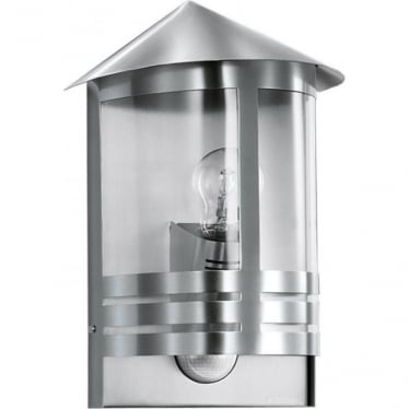L 170 S Wall lantern with PIR - silver