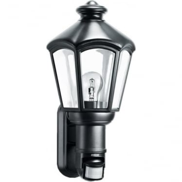 L 562 S Classic Lantern Wall light with 140 degree PIR - black