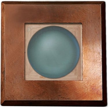 Step Light Square on Square - copper - Low Voltage