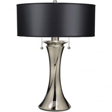 Manhattan Zinc Cast Table Lamp Polished Nickel