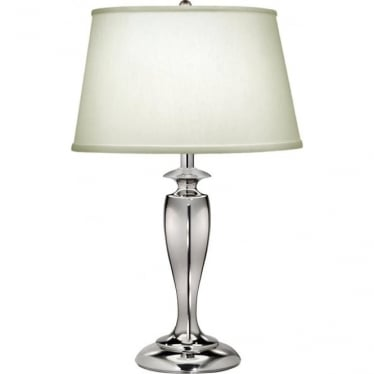 Stuyvesant Zinc Cast Table Lamp Polished Nickel