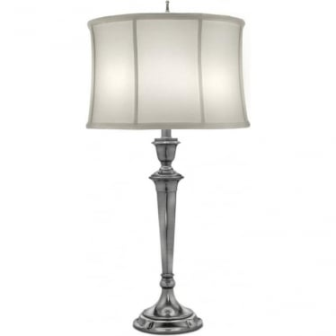 Syracuse Zinc Cast Table Lamp Antique Nickel