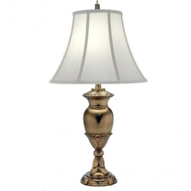 Waldorf Zinc Cast Table Lamp Burnished Brass