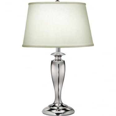 Stuyvesant Zinc Cast Table Lamp Polished Nickel