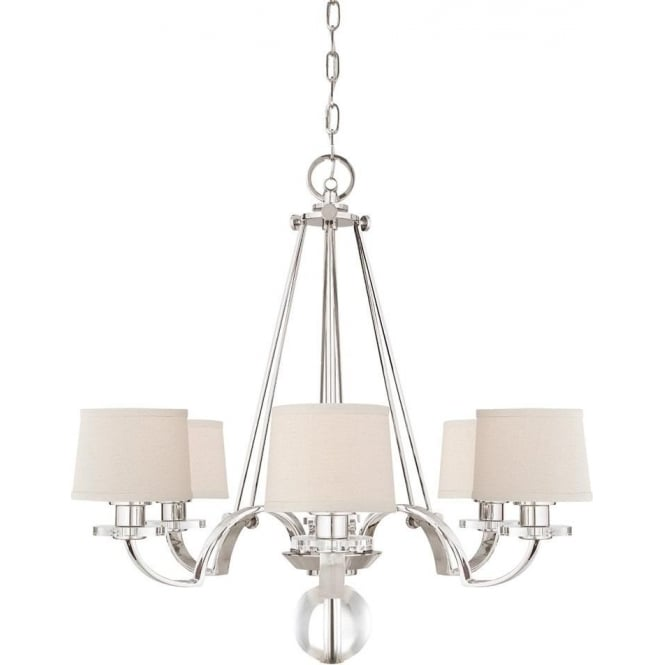 Quoizel Sutton Place 6 light Chandelier Imperial Silver
