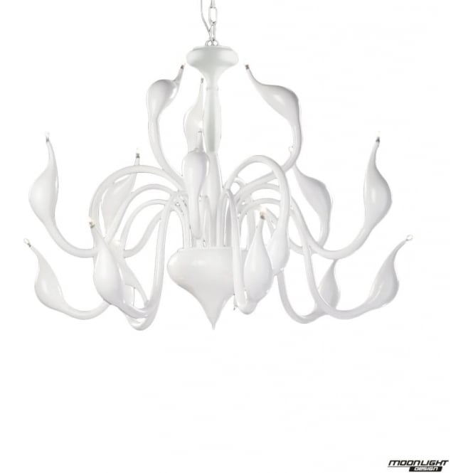 Illuminati Swan 18 Light Pendant White