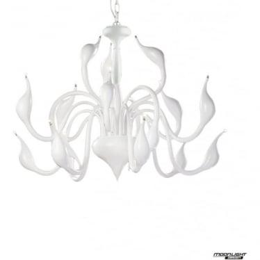 Swan 18 Light Pendant White