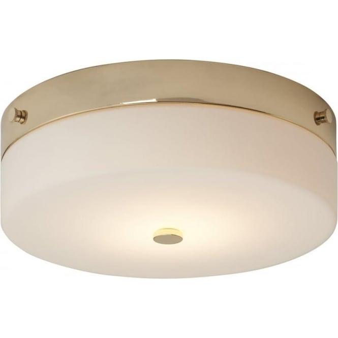 Elstead Lighting Tamar Flush Mount Bathroom LED Ceiling Light IP44 Polished Gold