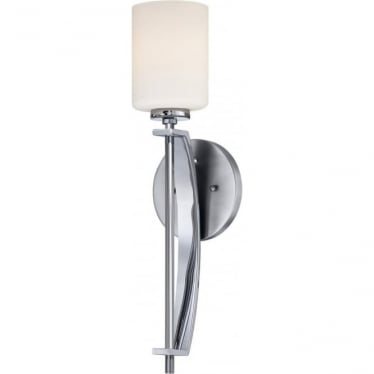 Taylor Single Large Bathroom LED Wall Light IP44 Polished Chrome