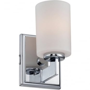 Taylor Single Small Bathroom LED Wall Light  IP44 Polished Chrome