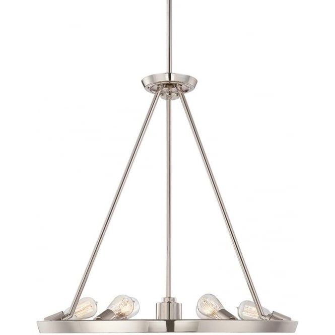 Quoizel Theater Row 6 light Chandelier Imperial Silver