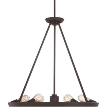 Theater Row 6 light Chandelier Western Bronze