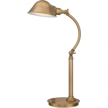 Thompson LED Table Lamp Aged Brass