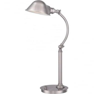 Thompson LED Table Lamp Brushed Nickel