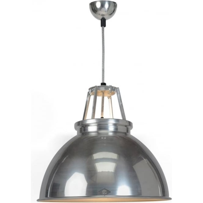 Original BTC Lighting Titan Pendant Light  - size 3 - Natural Aluminium