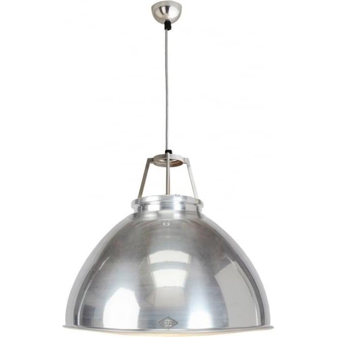 Original BTC Lighting Titan Pendant Light  - size 5 - Natural Aluminium
