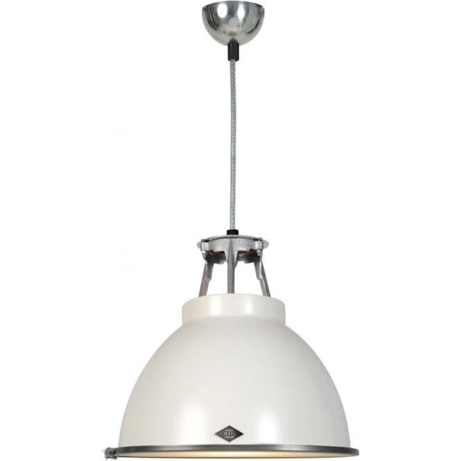 Original BTC Lighting Titan Pendant Light with Etched Glass - size 1 - colour options