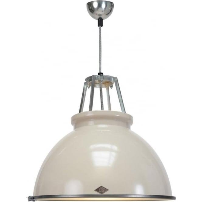 Original BTC Lighting Titan Pendant Light with Etched Glass - size 3 - colour options