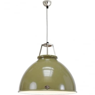 Titan Pendant Light with White Interior - size 5 - colour options