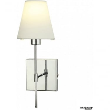 Metz single light wall fitting - Chrome with coloured shade