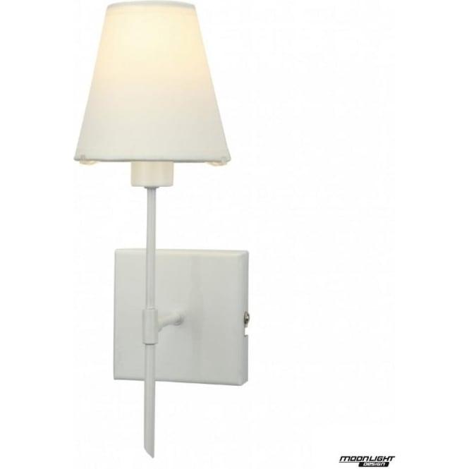 tp24 LED Lighting Popova single light wall fitting - White gloss with coloured shade