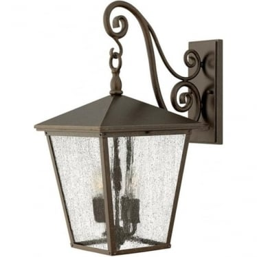 Trellis large wall lantern - Bronze