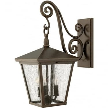 Trellis medium wall lantern - Bronze