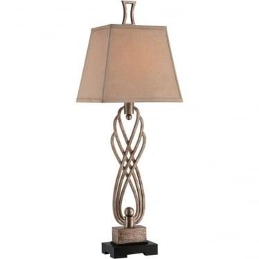 Triheart Buffet Table Lamp Antique Brass