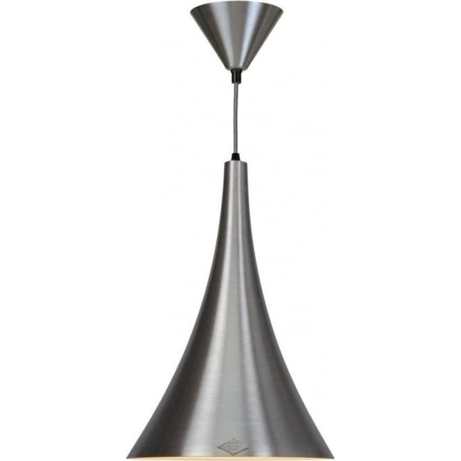 Original BTC Lighting Trump brushed aluminium pendant light