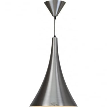 Trump brushed aluminium pendant light